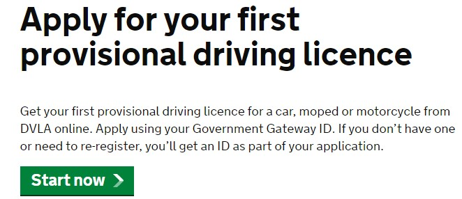 Application to the DVLA
