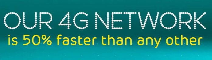 EE claims their 4g is 50% faster
