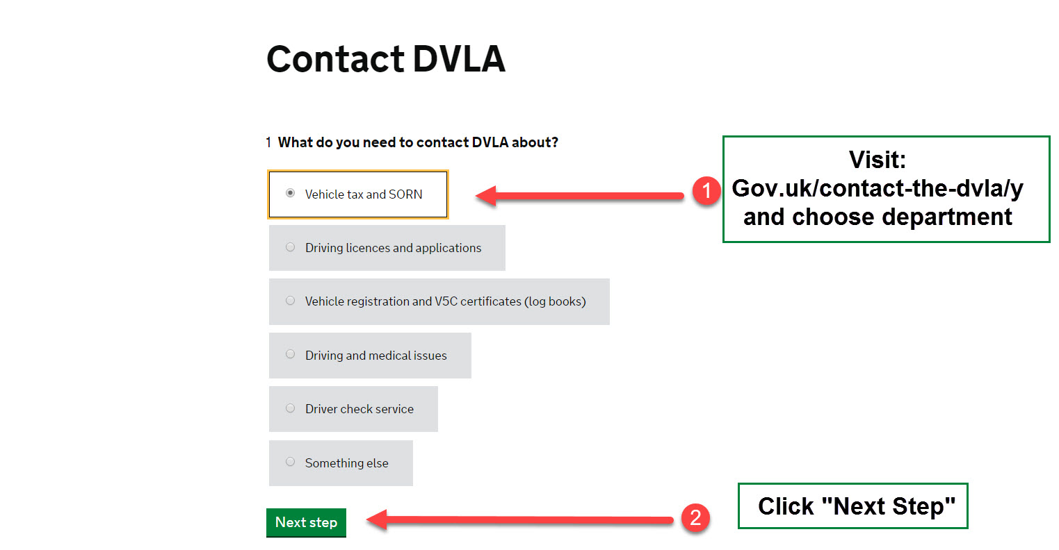 How to contact DVLA