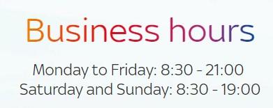 sky business hours