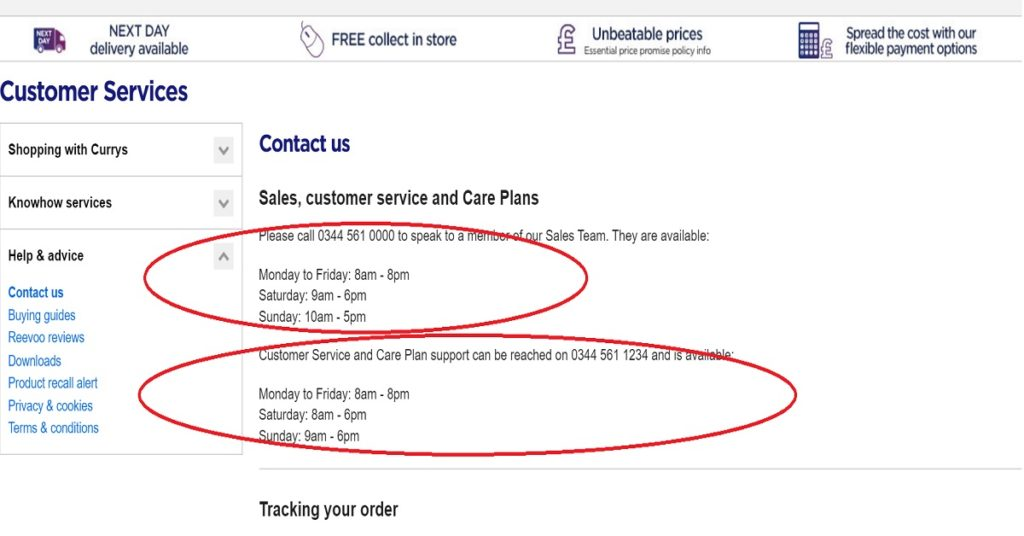 Knowhow Care Plan >> Currys Contact Us Page Uk Customer Service Contact Numbers