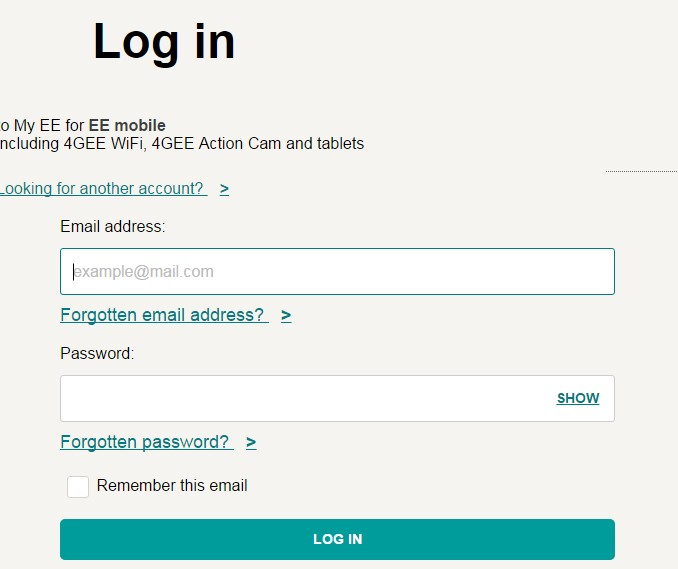 login to pay ee bill