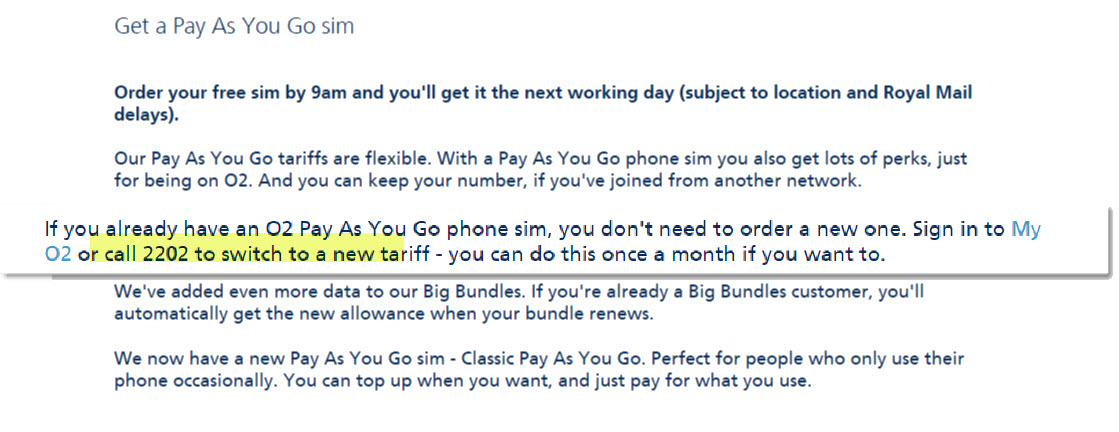 o2 pay as you go contact