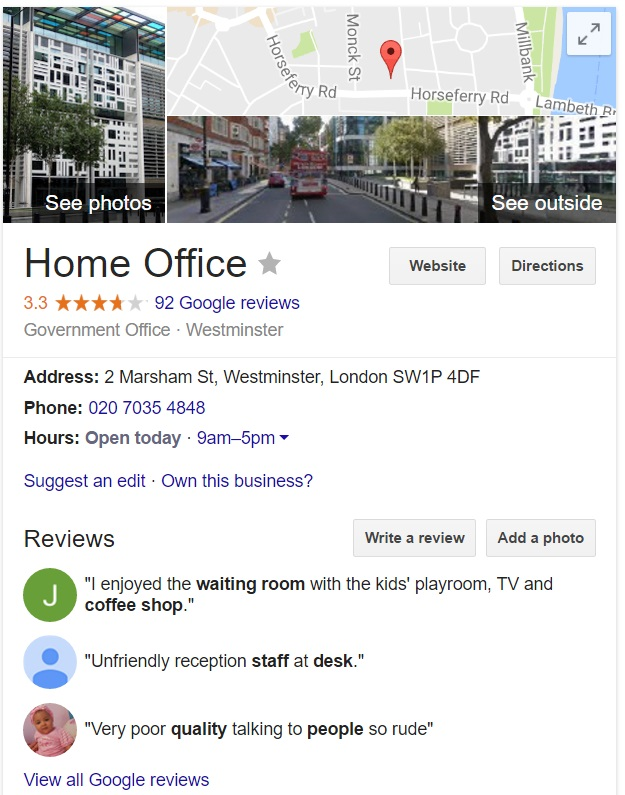 contact home office uk