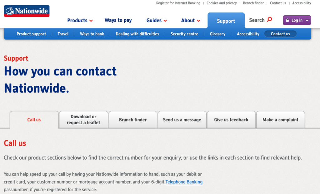 Nationwide Customer Service >> Nationwide Uk Customer Service Contact Numbers Lists