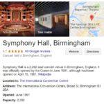 Symphony Hall Phone Numbers