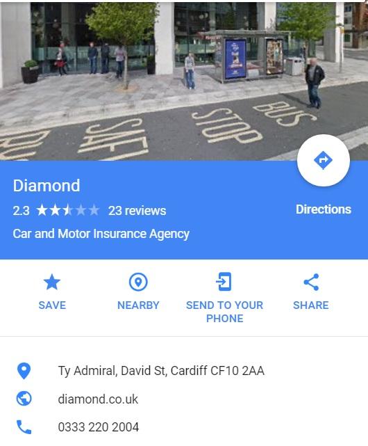contact diamond insurance