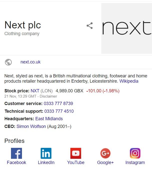 contact next uk