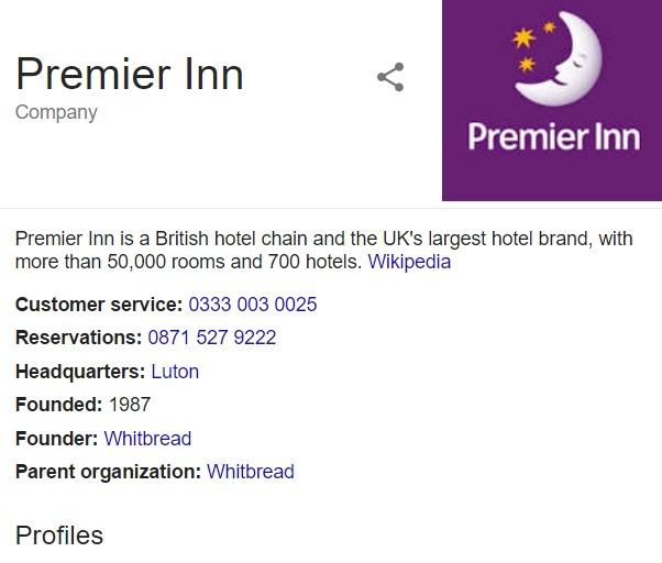 contact premier inn