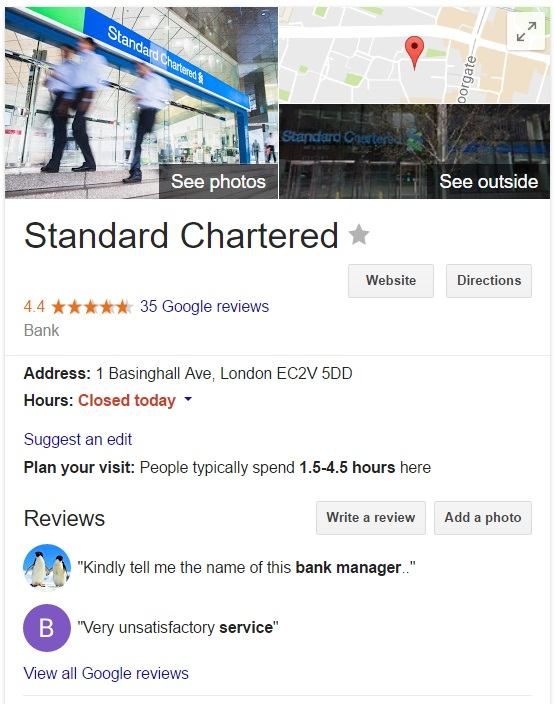 Standard chartered bank customer service and care contact - Standard bank head office contact details ...