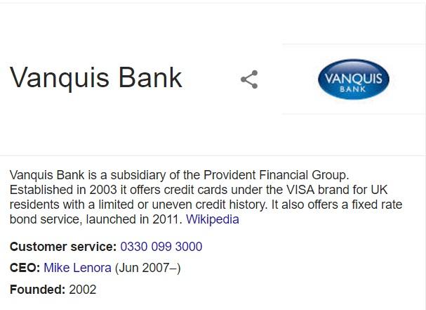 vanquis bank contact