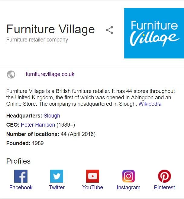 furniturevillage contact info