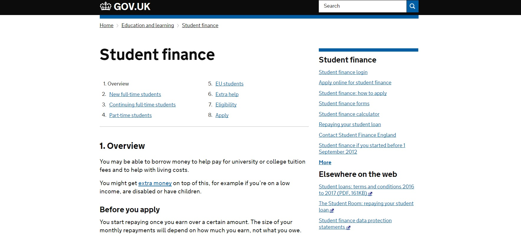 student finance contact