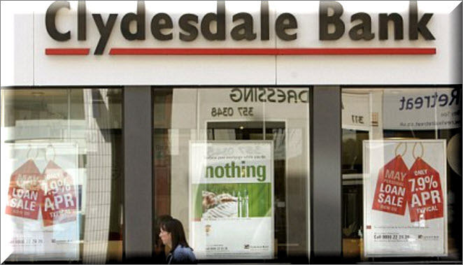 Clydesdale Bank saving branch