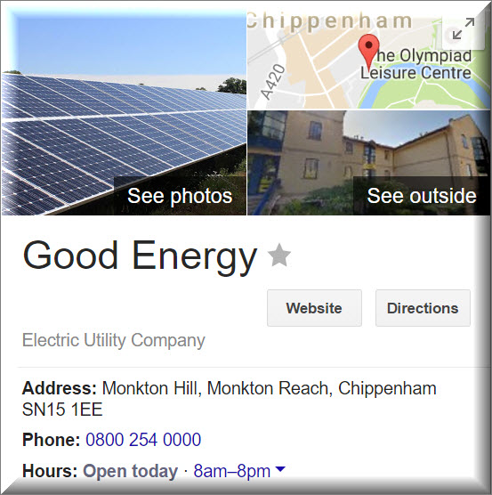 Good Energy contact information