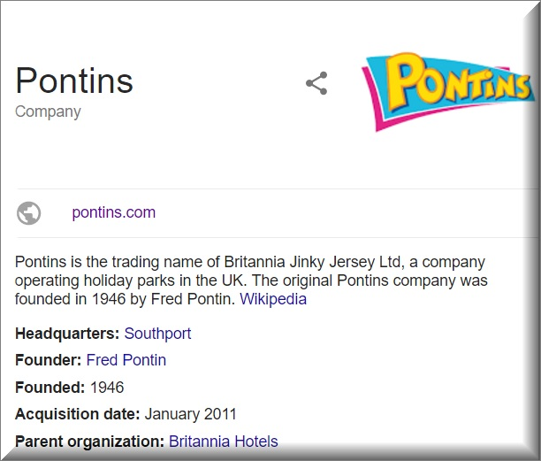 pontins information