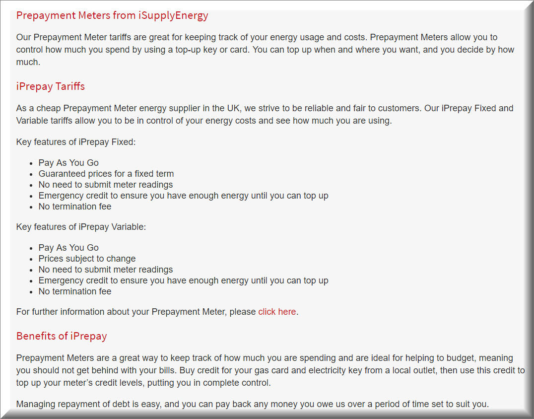 prepayment meter isupplyenergy