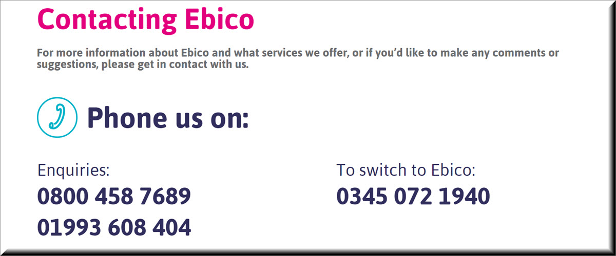 contacting Ebico