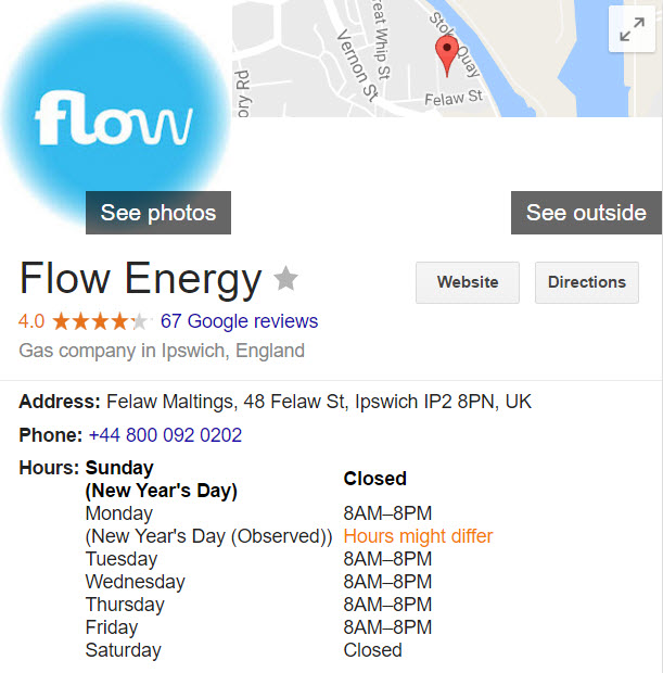 flow energy contact details