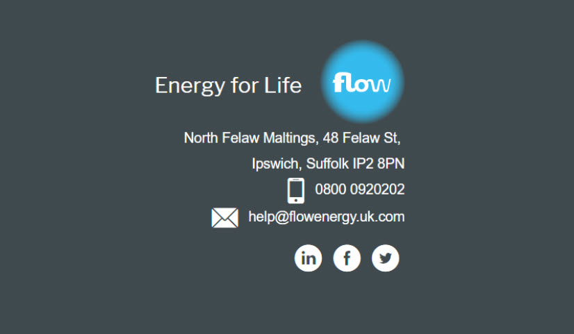 flow energy number and email