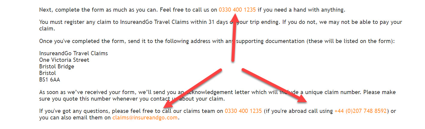 Insure and Go Travel Insurance Claims