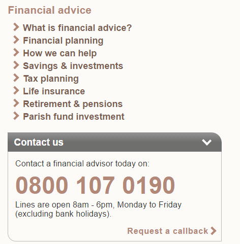 Contact a financial advisor