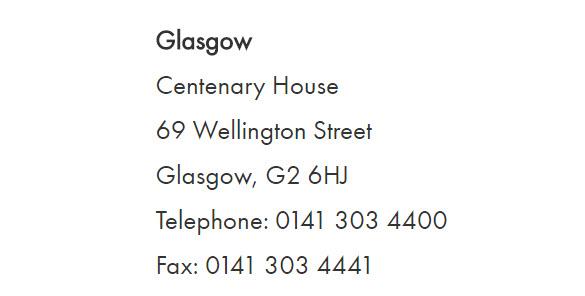 aig Glasgow contact details