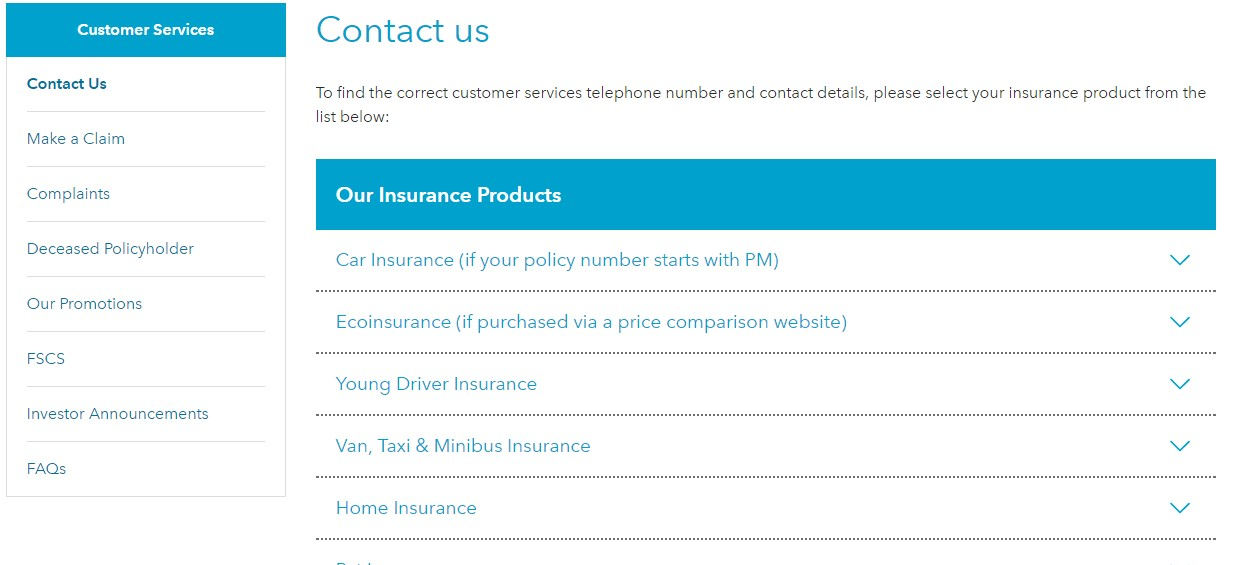 Esure Claims Number >> Co-Op Insurance Customer Service Free Contact Number: 0800 068 4244