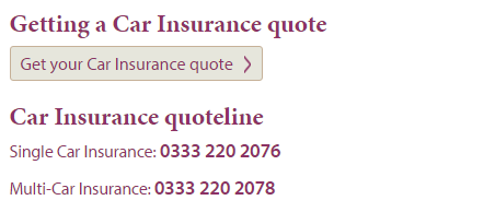 Diamond Insurance quotes number
