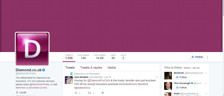 diamond insurance twitter