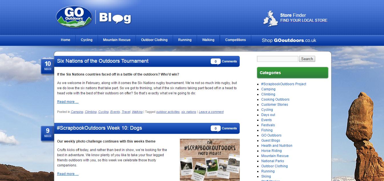 go outdoors blog