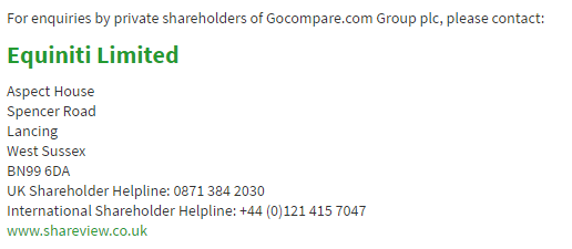 go compare shareholders