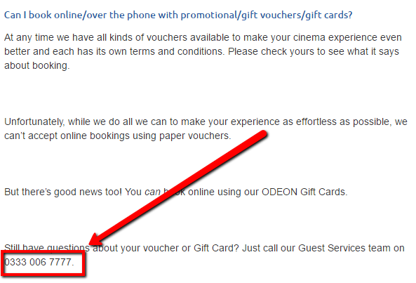 Odeon Promotional Vouchers