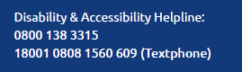 Odeon Accessibility Number