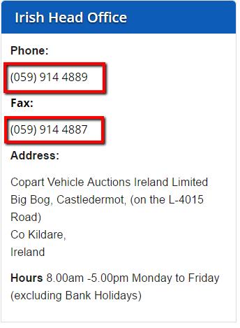 Copart_Ireland_Customer_Service_Number