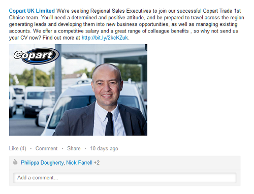 Copart_linkedin_job_post