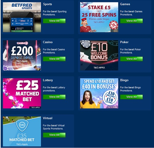 Betfred Sports, Games, Casino, Poker, Lottery, Bingo and Virtual