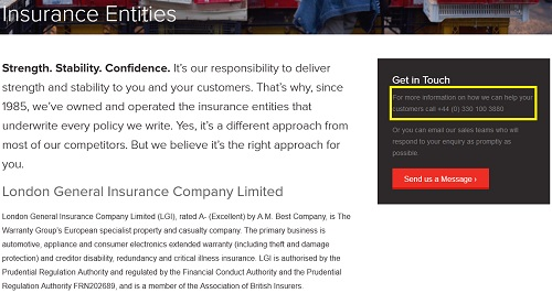 London General Insurance number