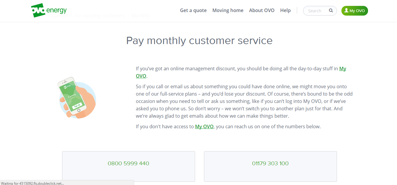 Pay Monthly Customer Service
