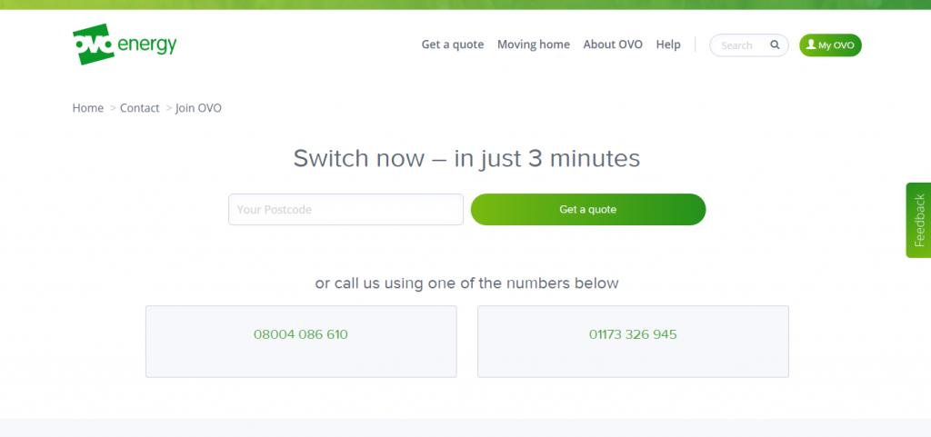OVO Energy Switch Now