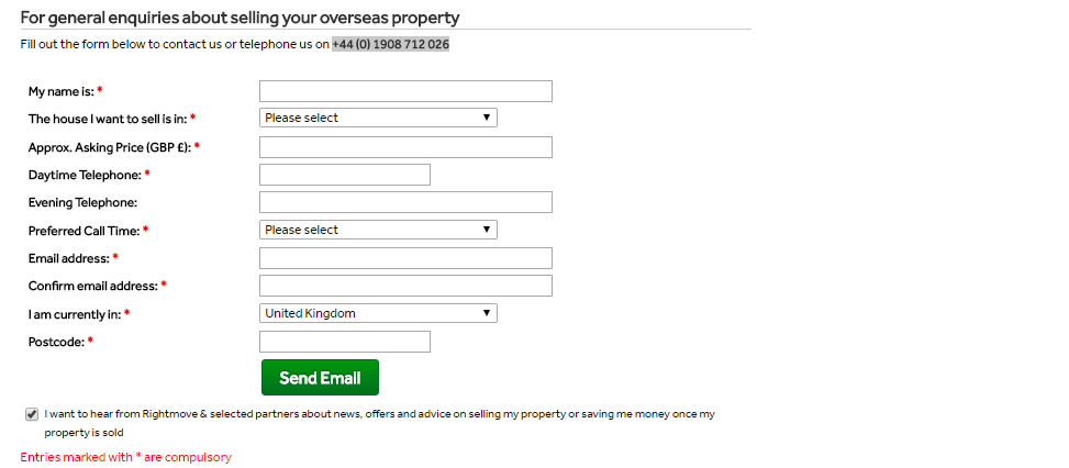 rightmove private vendor