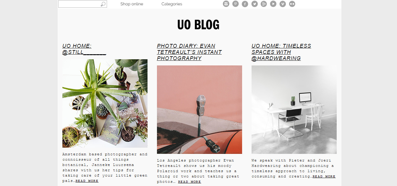 urban outfitters blog