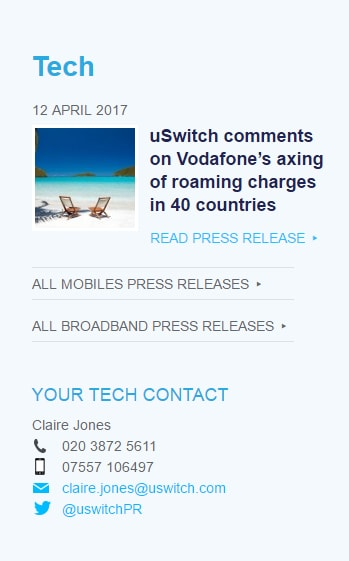 uswitch tech press