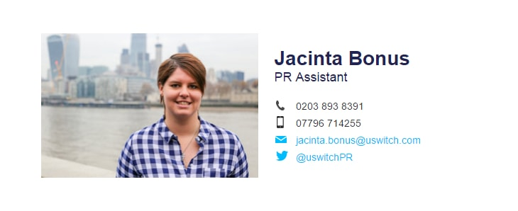 uswitch pr assistant