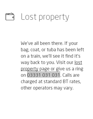 virgin trains lost property