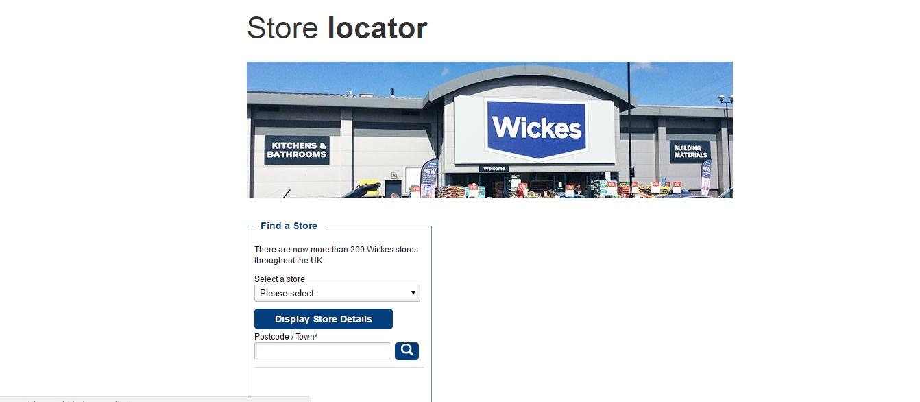 wickes store locator
