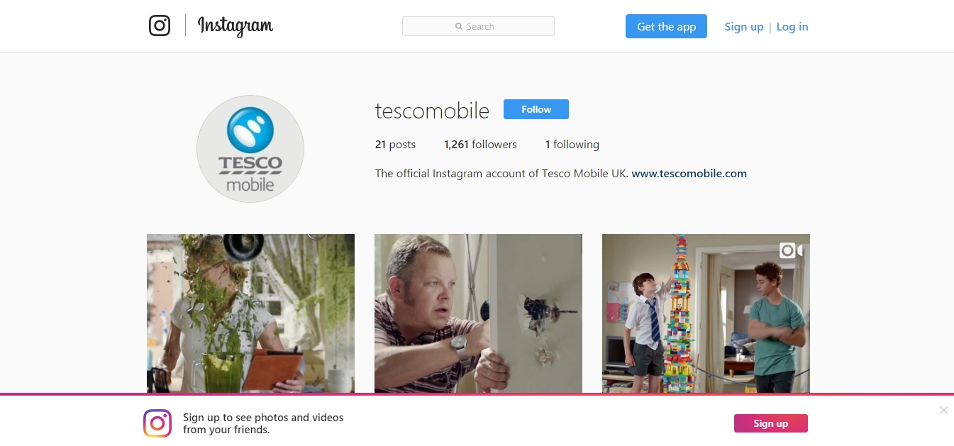 Tesco Mobile Social Media