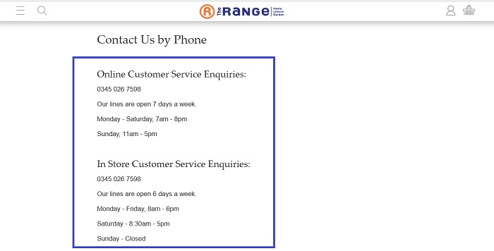 The_Range_customer_service_contact_number