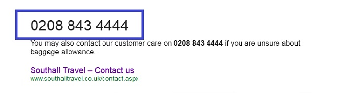 southall customer service number