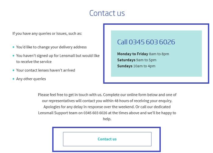 lensmail_service_contact_number